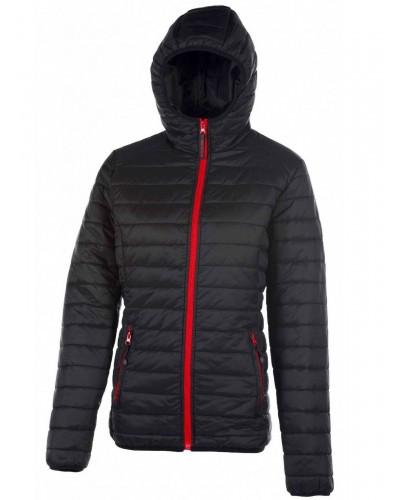 Blouson Polyester Femme FCPK763 noir rouge