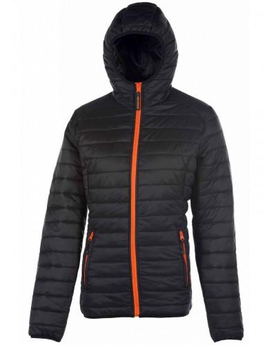 Blouson Polyester Femme FCPK763 noir orange
