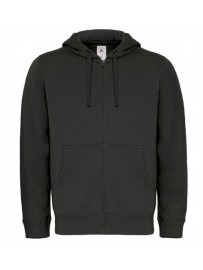 Sweat capuche grand zip homme Fashion Cuir BC50515
