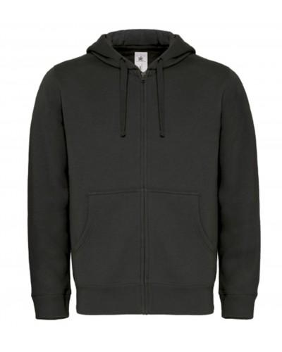 Sweat capuche grand zip homme Fashion Cuir BC50515