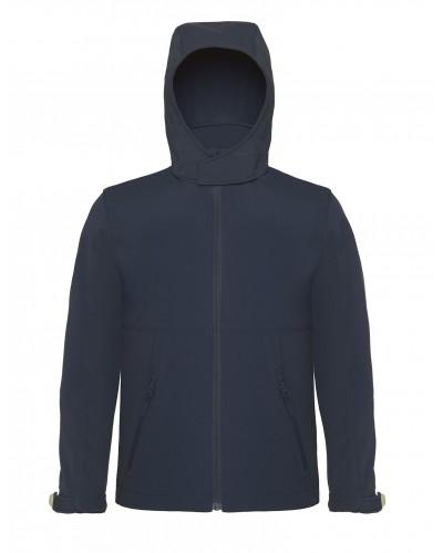 Veste Soft-Shell homme à capuche Fashion Cuir BC65013