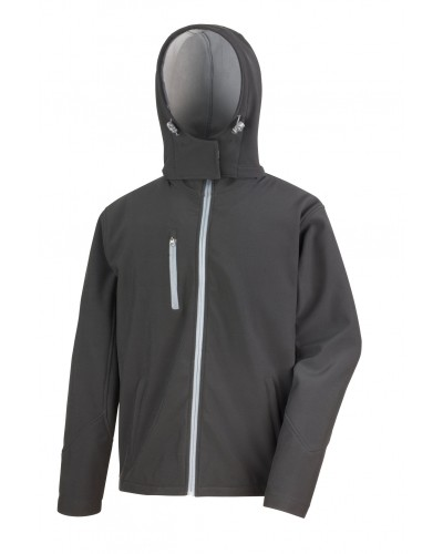 Veste Soft-Shell homme à capuche Fashion Cuir RS23073