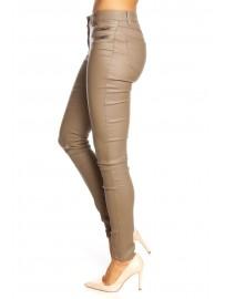 Pantalon slim sexy effet satiné