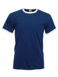 Lot de 3 tee shirt col et manche bicolore