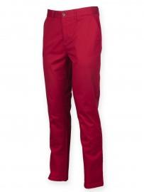 Pantalon leger stretch coupe droite coton elasthane