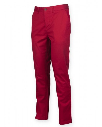 Pantalon leger stretch coupe droite coton elasthane