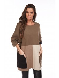 CRISTINA Robe Pull Manches Longues Femme