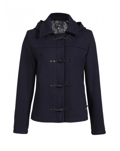 Duffle coat court en Laine impermeable