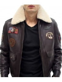 Blouson cuir style pilote
