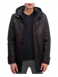 Parka Cuir duffle coat
