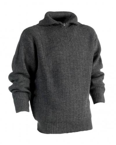 Pull over tricoté col zippé