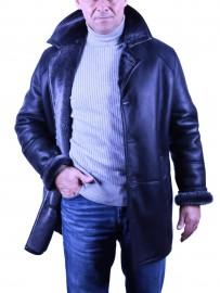 Veste longue peau lainée Agneau retourné