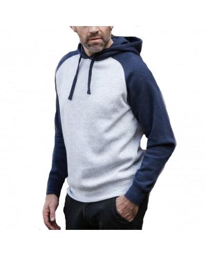 Sweatshirt capuche bicolore