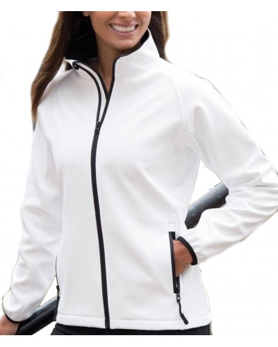 Blouson polyester zip contrasté