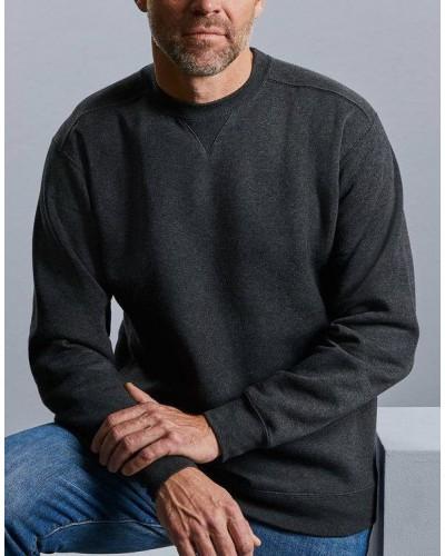 Sweat coton avec bord cote elasthane aux  poignets et taille