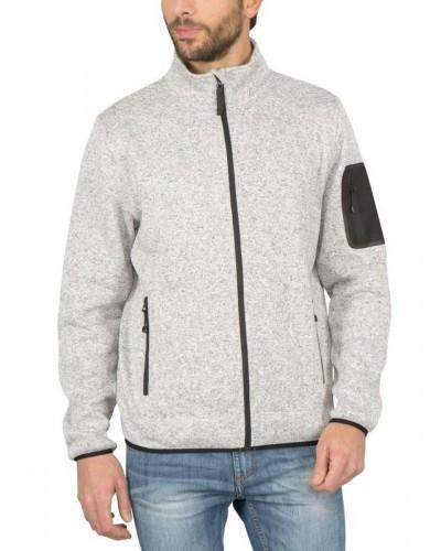 Sweat polaire zipé  tricoté chiné