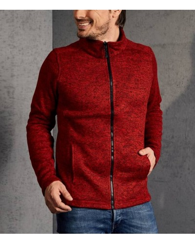 Sweat  grand zip polaire chiné