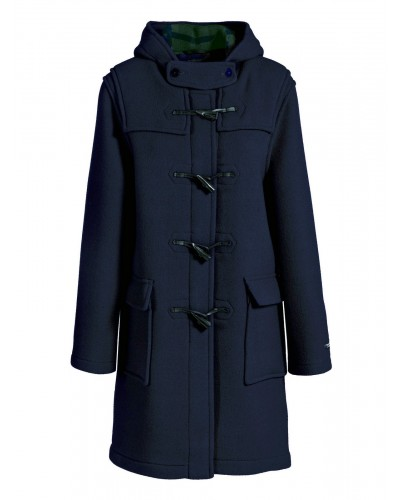 Duffle coat Femme Laine Made in France DALMARD MARINE Liverpool bleu