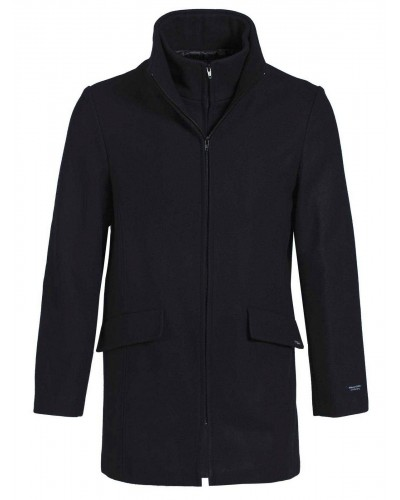 Manteau marin laine cachemire made in France