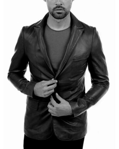 Men's long leather jacket Arturo FLORIDE