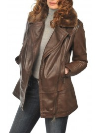 Women's Leather parka Arturo alaska