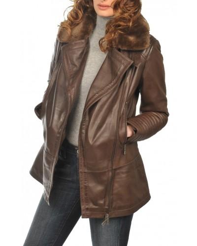 Women's Leather parka Arturo alaska