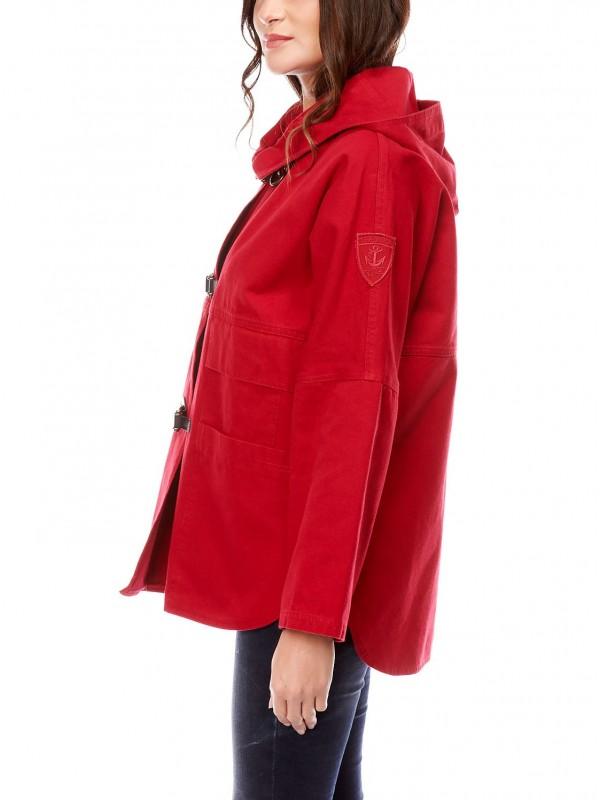 772ed9358e veste toile de coton femme dalmard marine rieux rouge