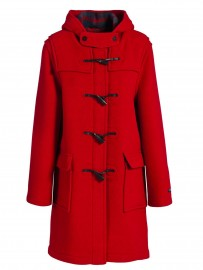 Duffle coat Femme Laine Made in France DALMARD MARINE Liverpool rouge