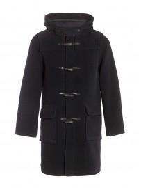 Duffle coat Laine à chevrons made in France DALMARD MARINE