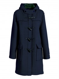 Duffle coat Femme Laine Made in France DALMARD MARINE Liverpool bleu