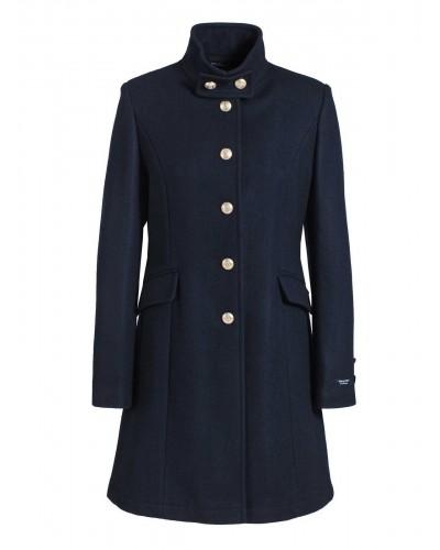 Manteau femme bleu marine en laine